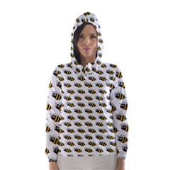 Wasp Bee Eye Fly Line Animals Hooded Wind Breaker (Women)