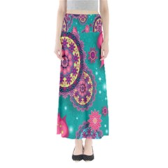 Vintage Butterfly Floral Flower Rose Star Purple Pink Green Yellow Animals Fly Maxi Skirts