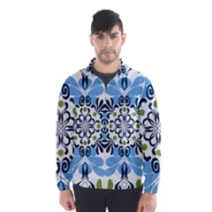 Flower Floral Jpeg Wind Breaker (Men)