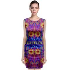 Festive Decorative Moonshine Classic Sleeveless Midi Dress