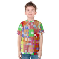 Abstract Polka Dot Pattern Kids  Cotton Tee