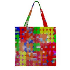 Abstract Polka Dot Pattern Zipper Grocery Tote Bag