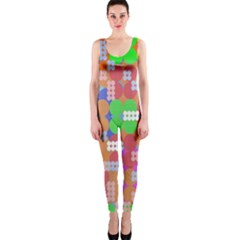 Abstract Polka Dot Pattern Onepiece Catsuit