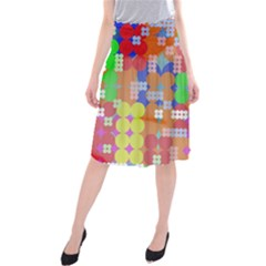 Abstract Polka Dot Pattern Midi Beach Skirt