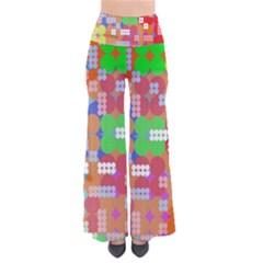 Abstract Polka Dot Pattern Pants