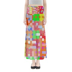Abstract Polka Dot Pattern Maxi Skirts
