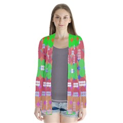 Abstract Polka Dot Pattern Cardigans