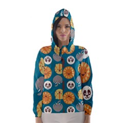 Animal Pattern Hooded Wind Breaker (women)