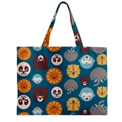 Animal Pattern Zipper Mini Tote Bag