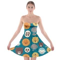 Animal Pattern Strapless Bra Top Dress
