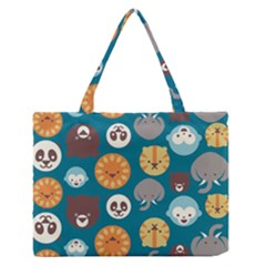 Animal Pattern Medium Zipper Tote Bag