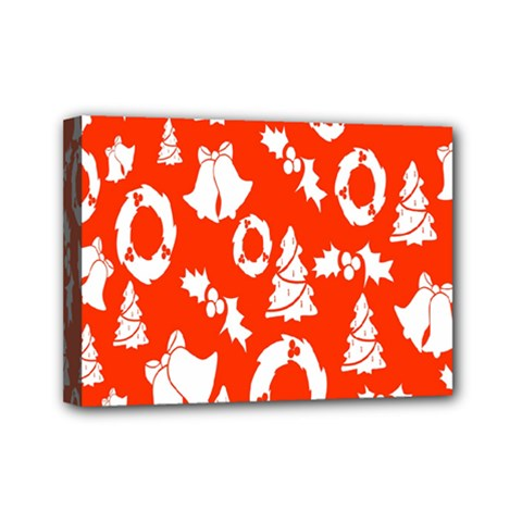 Backdrop Background Card Christmas Mini Canvas 7  x 5