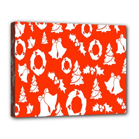 Backdrop Background Card Christmas Canvas 14  x 11