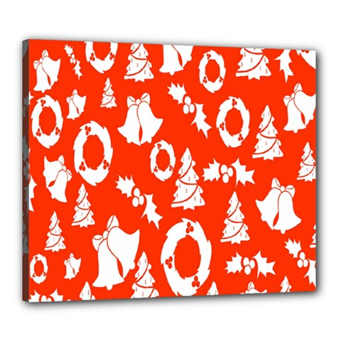 Backdrop Background Card Christmas Canvas 24  X 20