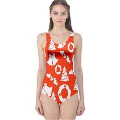 Backdrop Background Card Christmas One Piece Swimsuit