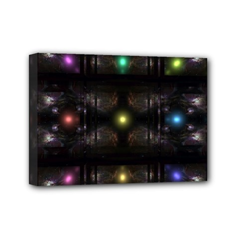 Abstract Sphere Box Space Hyper Mini Canvas 7  x 5