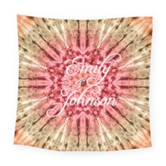 Red Tie Dye Square Tapestry (large)