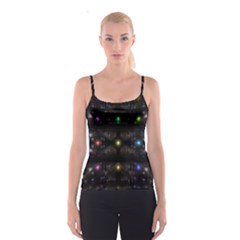Abstract Sphere Box Space Hyper Spaghetti Strap Top