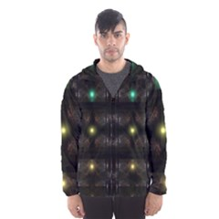 Abstract Sphere Box Space Hyper Hooded Wind Breaker (Men)