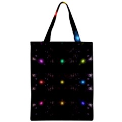 Abstract Sphere Box Space Hyper Zipper Classic Tote Bag