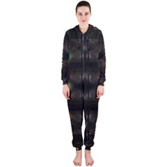 Abstract Sphere Box Space Hyper Hooded Jumpsuit (Ladies)