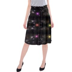 Abstract Sphere Box Space Hyper Midi Beach Skirt