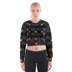 Abstract Sphere Box Space Hyper Women s Cropped Sweatshirt