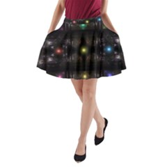 Abstract Sphere Box Space Hyper A Line Pocket Skirt