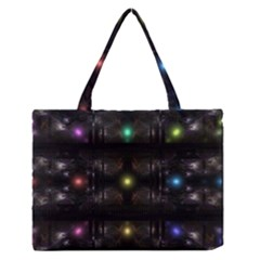 Abstract Sphere Box Space Hyper Medium Zipper Tote Bag