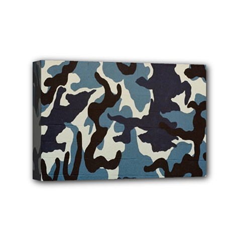 Blue Water Camouflage Mini Canvas 6  x 4
