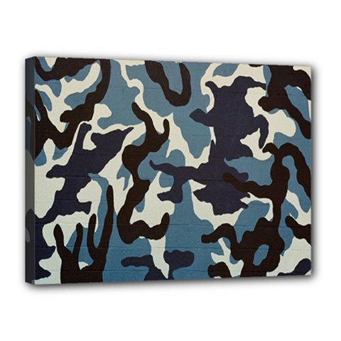 Blue Water Camouflage Canvas 16  x 12