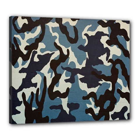 Blue Water Camouflage Canvas 24  x 20