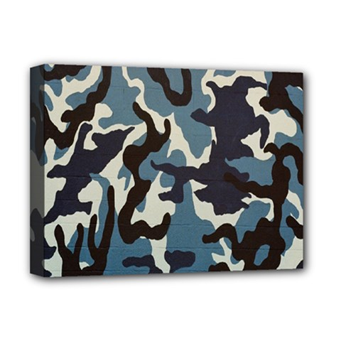 Blue Water Camouflage Deluxe Canvas 16  x 12