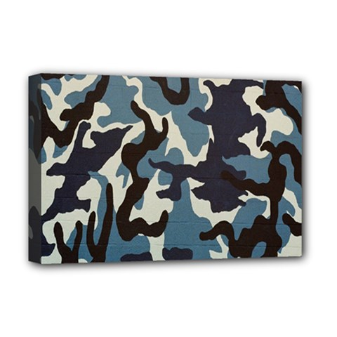 Blue Water Camouflage Deluxe Canvas 18  x 12
