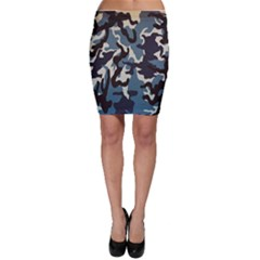 Blue Water Camouflage Bodycon Skirt