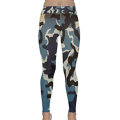 Blue Water Camouflage Classic Yoga Leggings