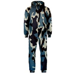 Blue Water Camouflage Hooded Jumpsuit (men)