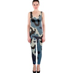 Blue Water Camouflage OnePiece Catsuit