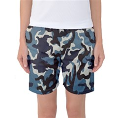 Blue Water Camouflage Women s Basketball Shorts
