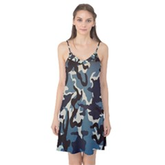Blue Water Camouflage Camis Nightgown