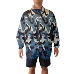 Blue Water Camouflage Wind Breaker (Kids)