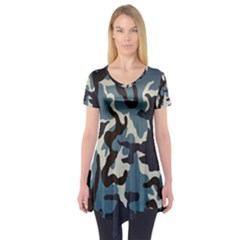 Blue Water Camouflage Short Sleeve Tunic