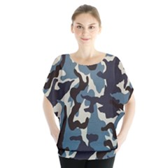 Blue Water Camouflage Blouse