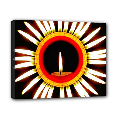 Candle Ring Flower Blossom Bloom Canvas 10  x 8