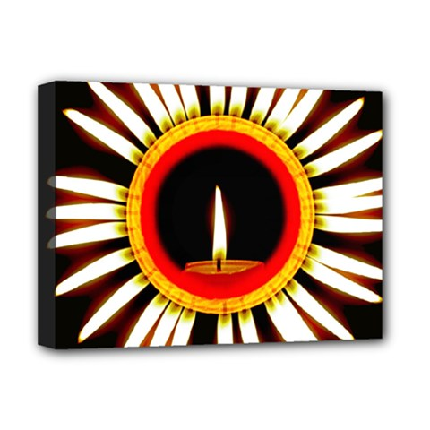 Candle Ring Flower Blossom Bloom Deluxe Canvas 16  x 12