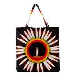 Candle Ring Flower Blossom Bloom Grocery Tote Bag