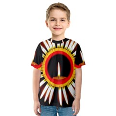 Candle Ring Flower Blossom Bloom Kids  Sport Mesh Tee