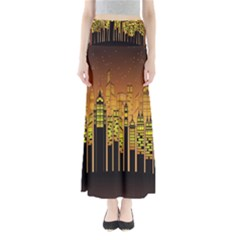 Buildings Skyscrapers City Maxi Skirts