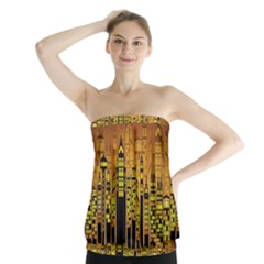 Buildings Skyscrapers City Strapless Top