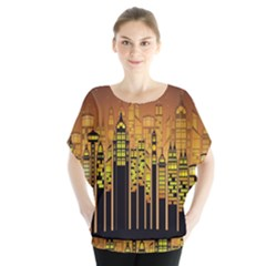 Buildings Skyscrapers City Blouse